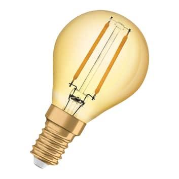 OSRAM gota LED E14 4W Vintage Classic P oro