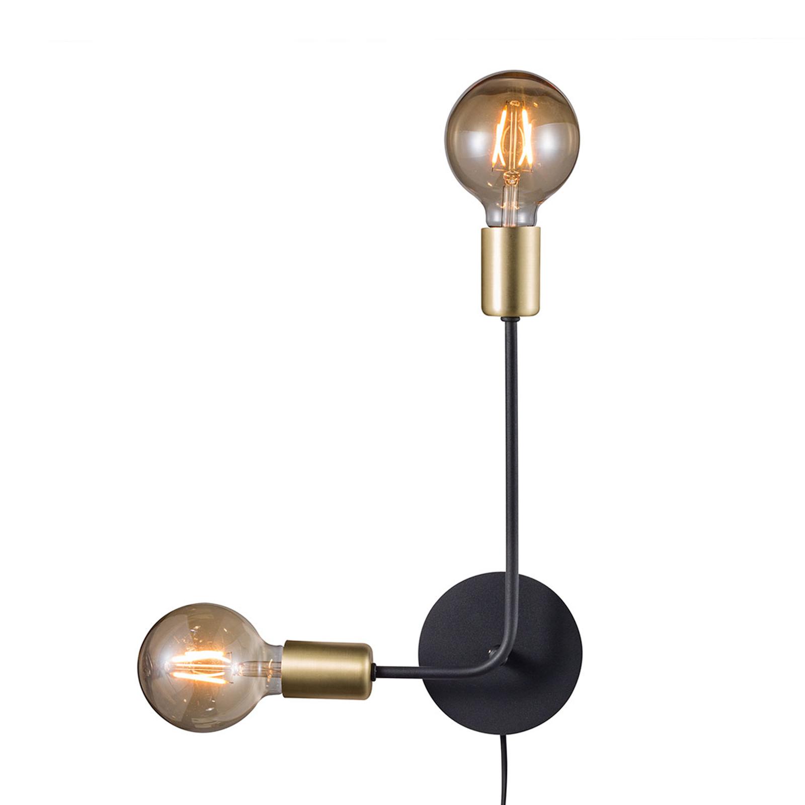 Vägglampa Josefine med kabel och kontakt