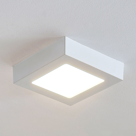 LED-Deckenlampe Marlo weiß 3000K eckig 18,1cm