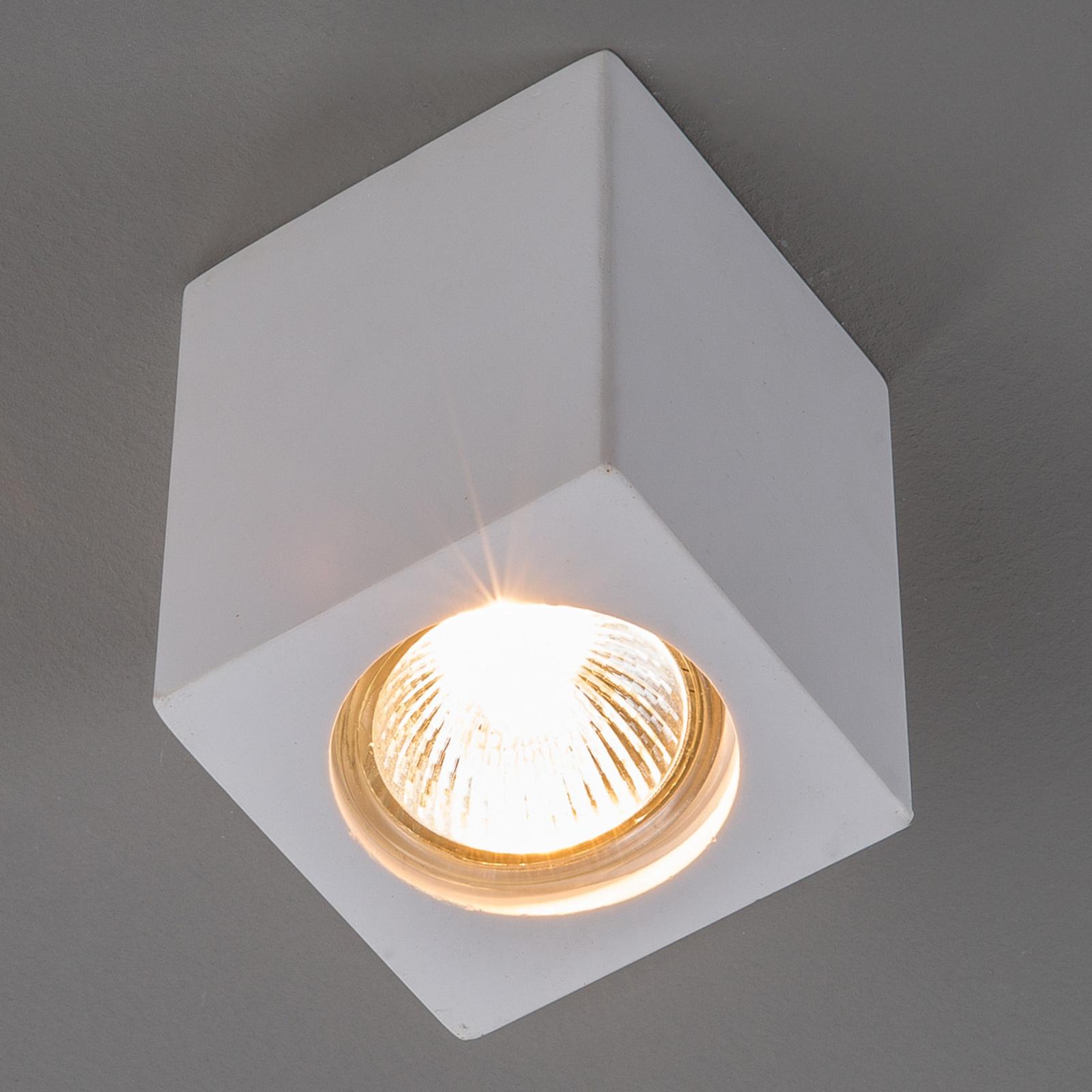 Gips-Downlight Anelie für GU10-Lampe, Höhe 11 cm