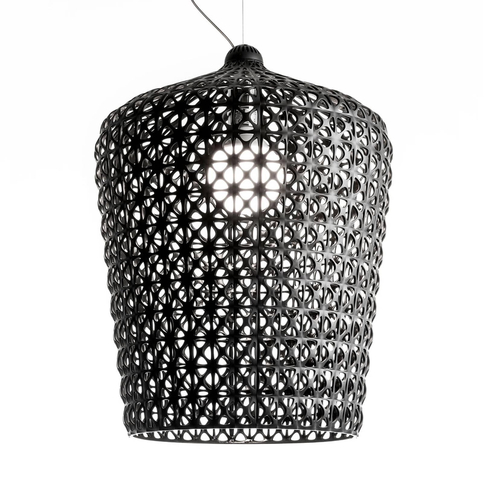 Designerska lampa wisząca Kabuki, czarna