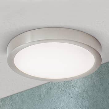 LED-kattovalaisin Vika, pyöreä, titaani, matta