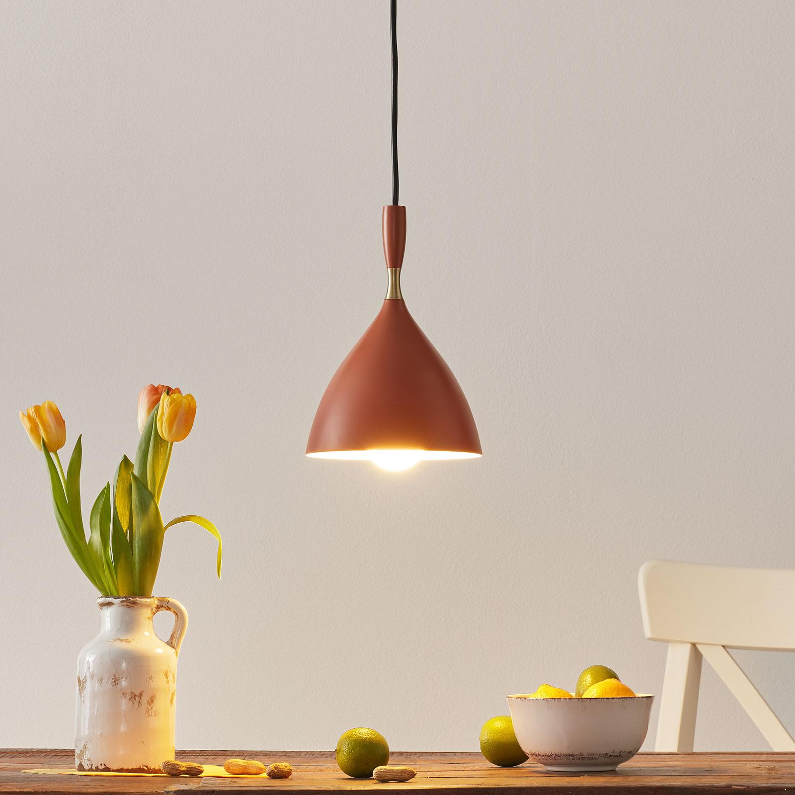 Northern hanglamp Dokka roestkleurig