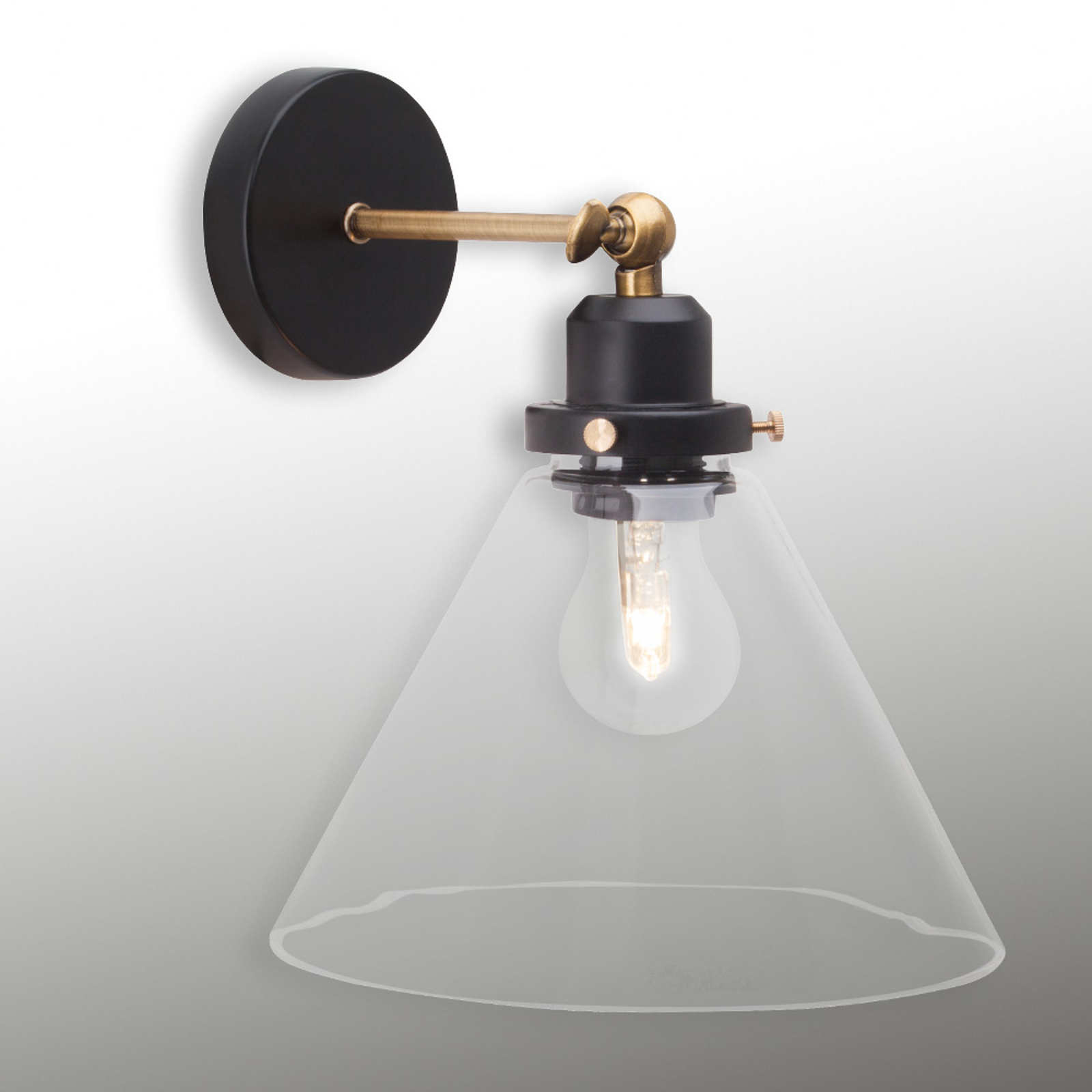 Antik væglampe Ronald