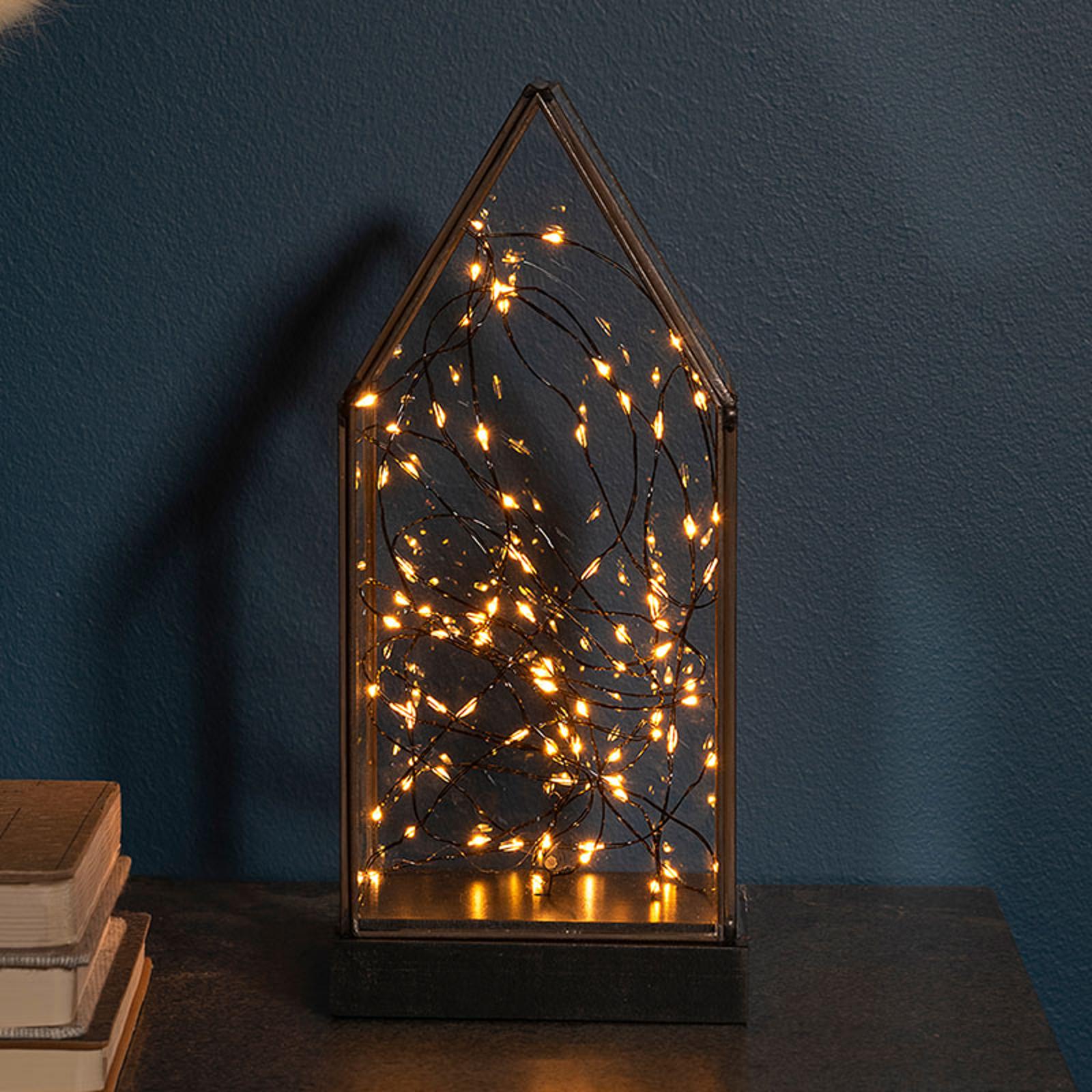 Lampada LED decorativa lanterna, 80 luci, batteria
