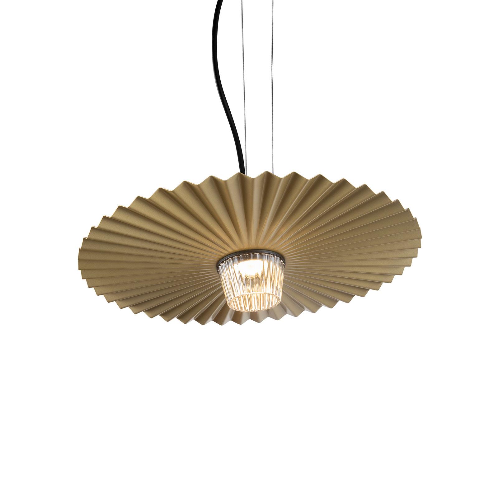 Karman Gonzaga LED závěsné světlo, Ø 42 cm, mosaz