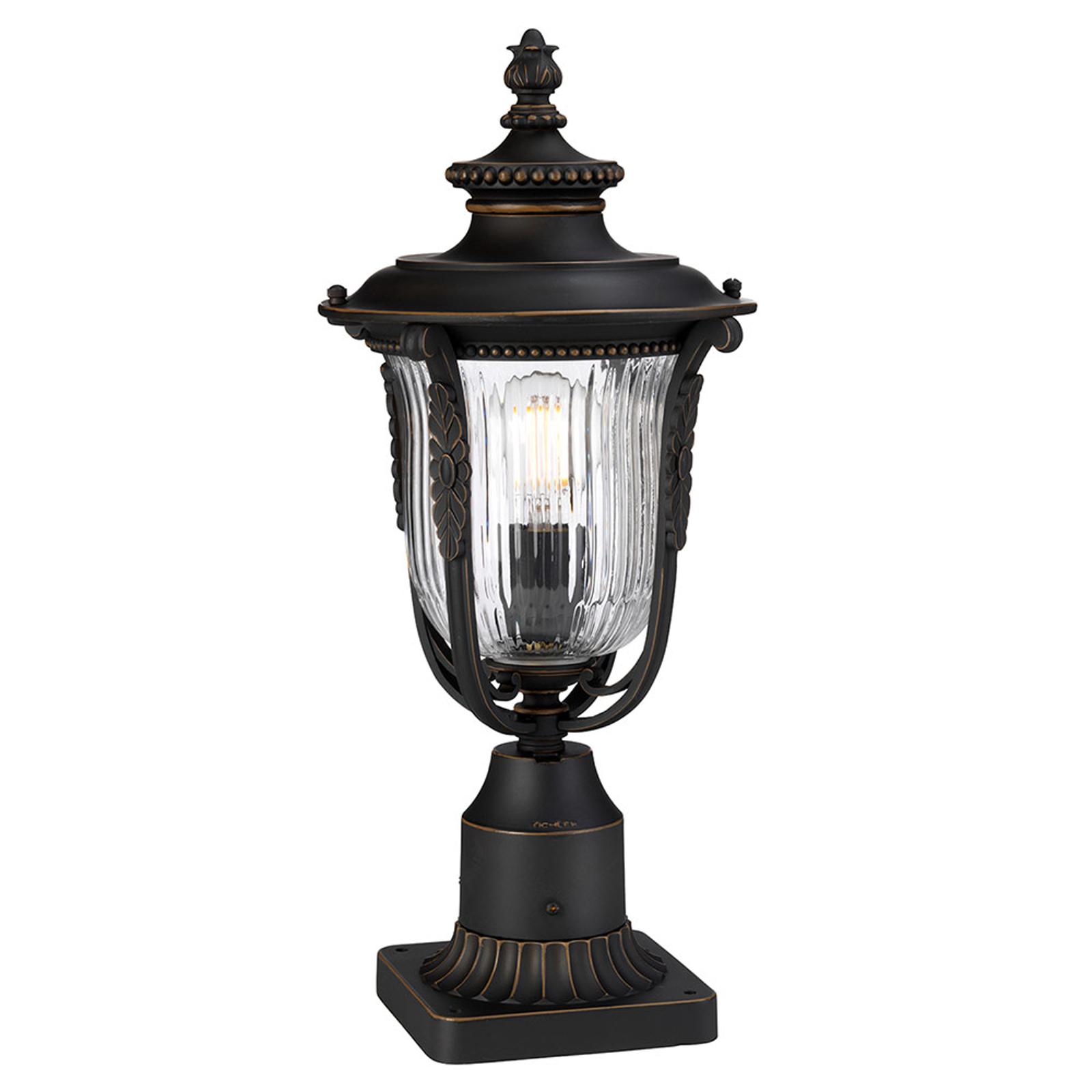 Słupek oświetleniowy Luverne z rowkowanym szkłem