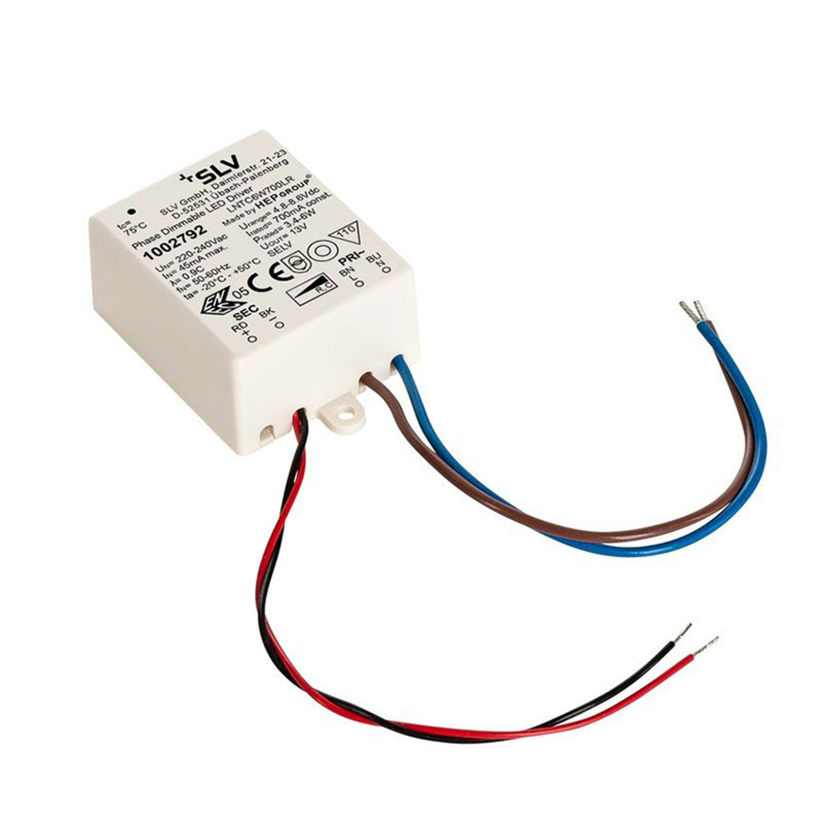 SLV driver LED 6W, 700mA, dimming TRIAC