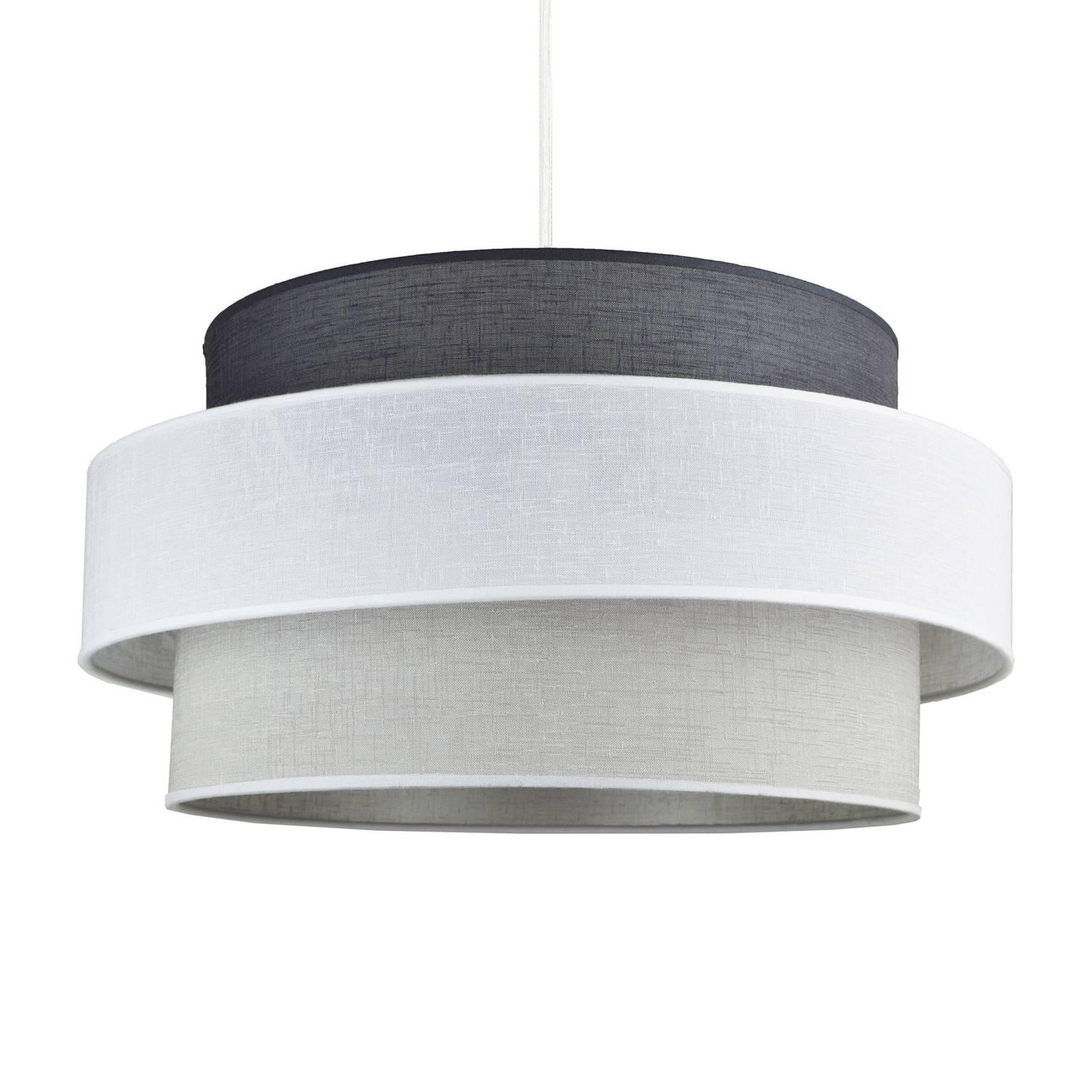 Hanglamp Space, wit/grijs/antraciet