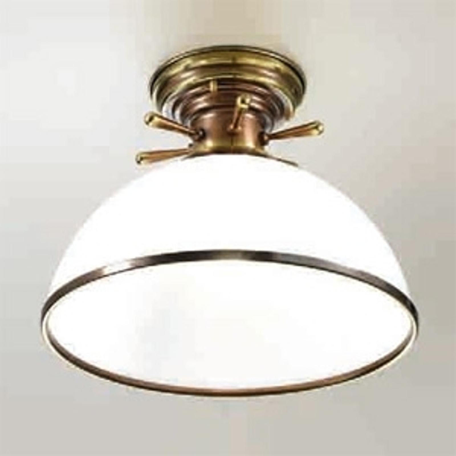 Plafondlampa Libeccio i vitt och mässing