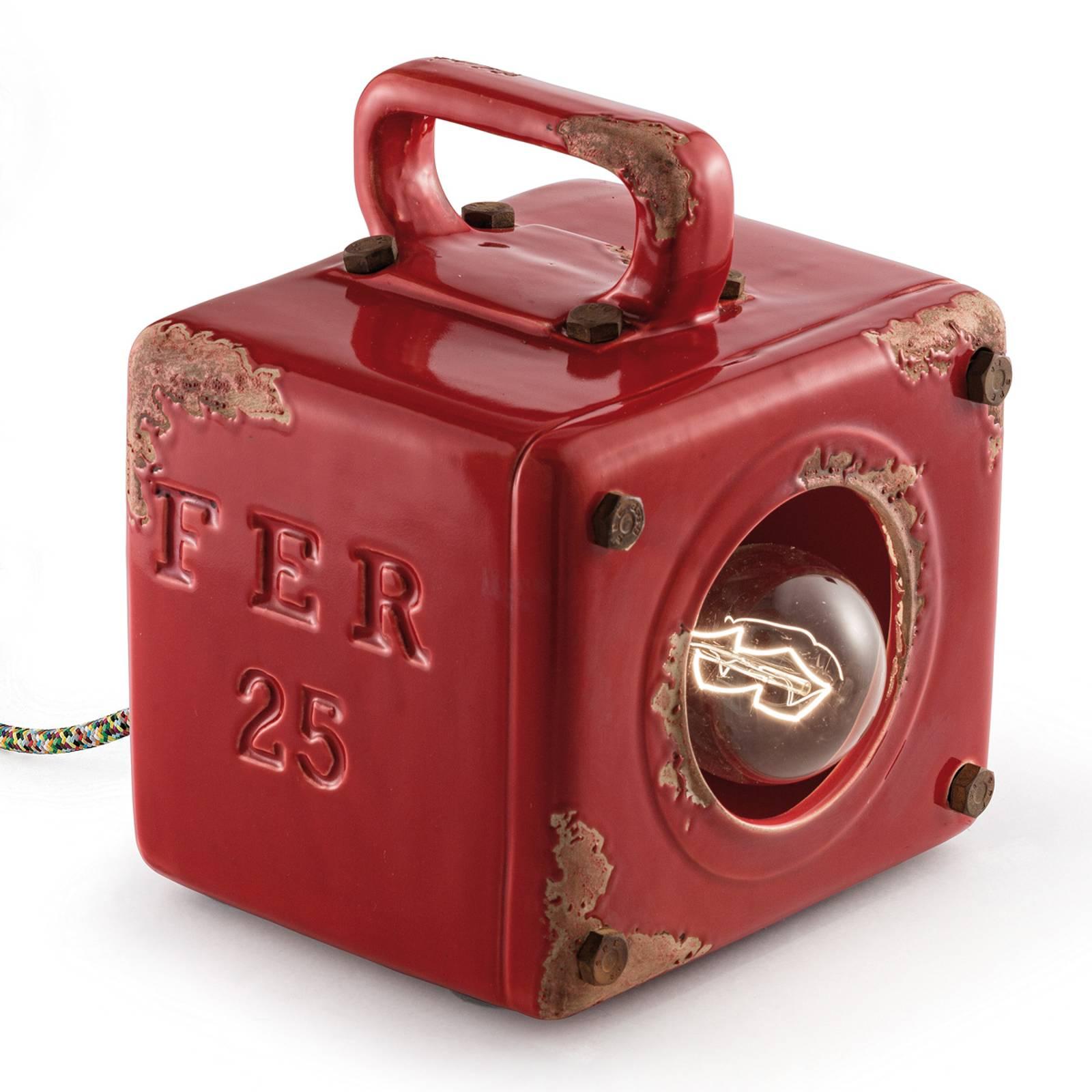 Lampe à poser vintage Lorenzo en rouge