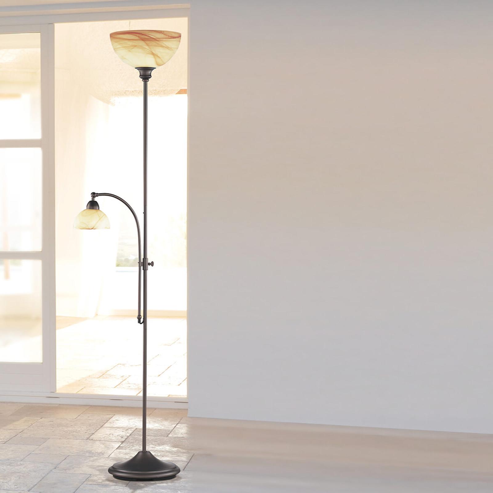 Lampa stojąca Lacchino ze ściemniaczem w podstawie