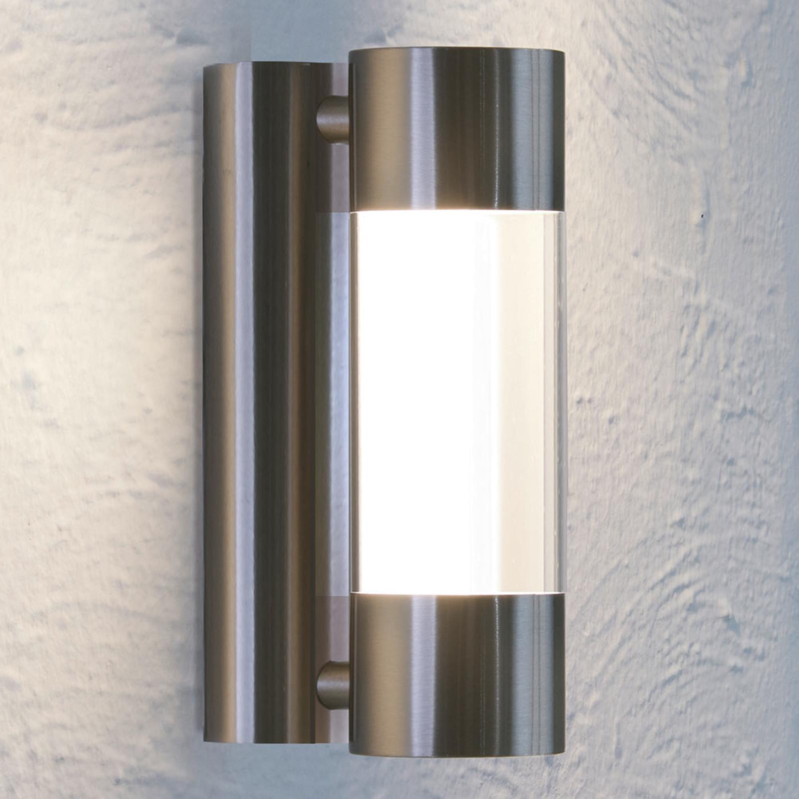 LED-utendørs vegglampe Robledo av rustfritt stål