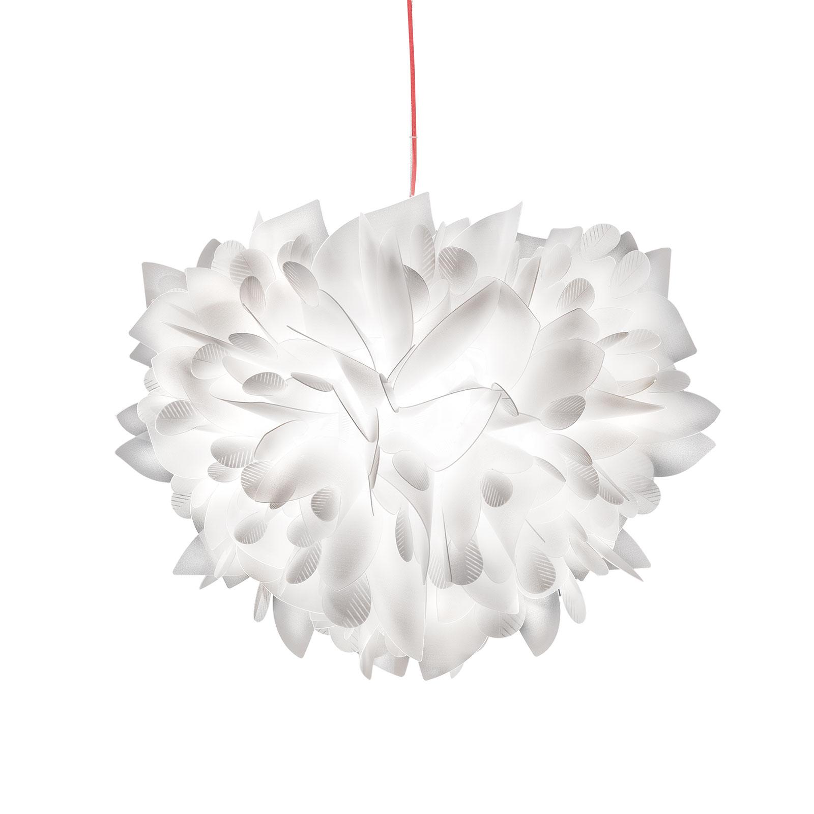 Slamp Veli Foliage medium hanglamp wit-rood 42cm