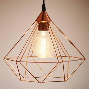 Lámpara colgante Tarbes, 1 luz, 32,5cm, cobre