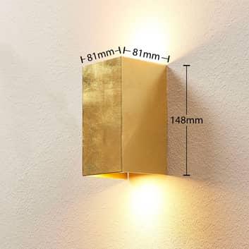 Goldfarbene Wandlampe Tabita aus Metall, 2-fl.