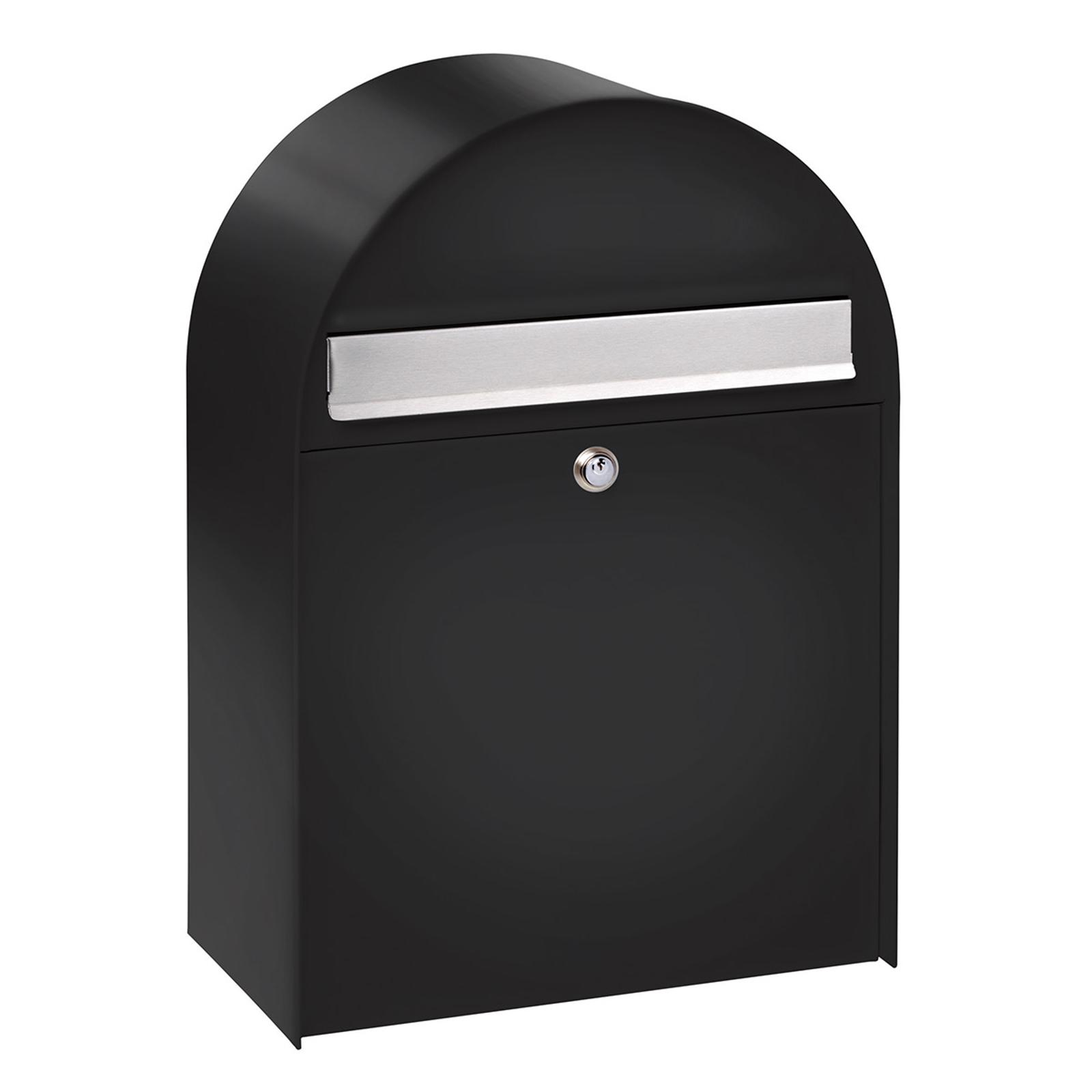 Nordic 780 - grote brievenbus, zwart gecoat