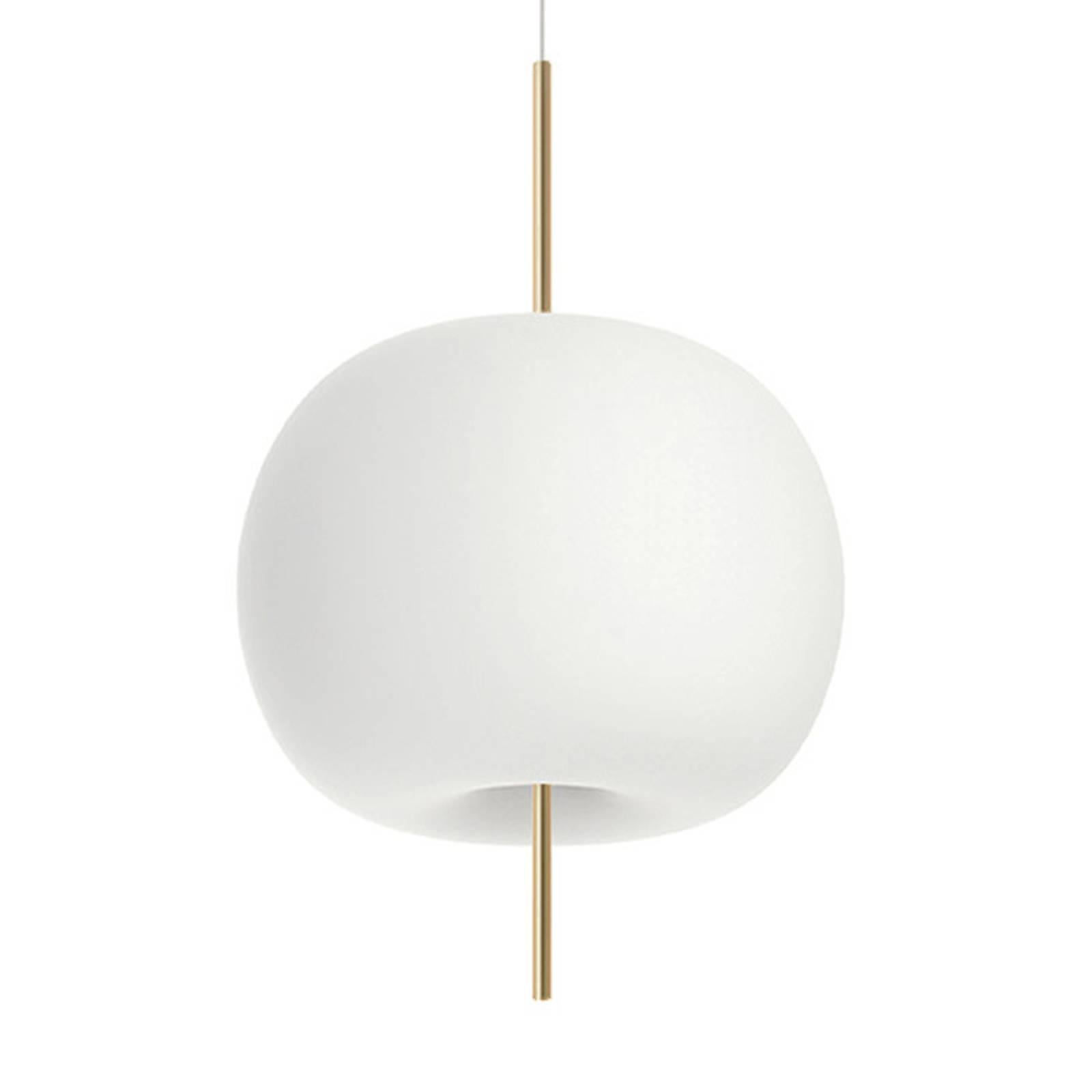 Kundalini Kushi lampa wisząca Ø 43cm mosiądz/biała
