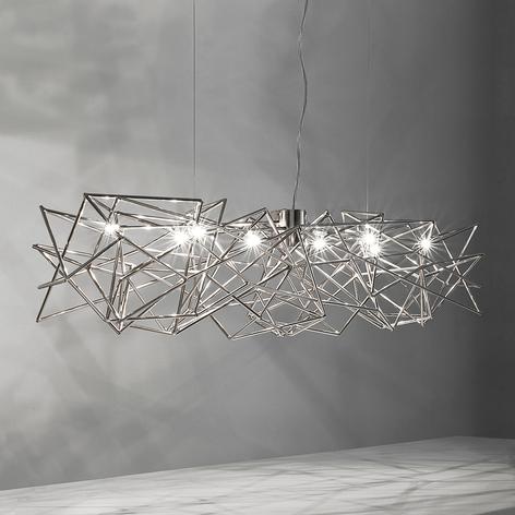 Sammenflettet hængelampe Etoile m. 8 lyskilder