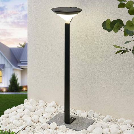 Lindby Clamor lampione LED solare con sensore