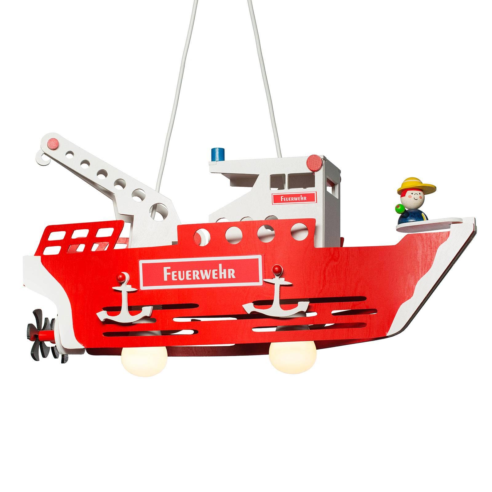 Suspension chambre d'enfant bateau pompier Fred