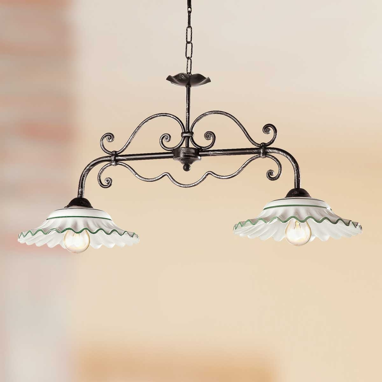 Speelse hanglamp I BILIARDI, 2-lichts