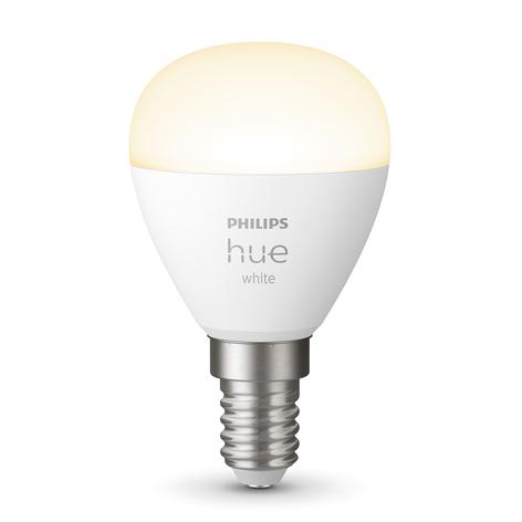 Philips Hue White LED-Tropfenlampe E14 5,7W 2.700K
