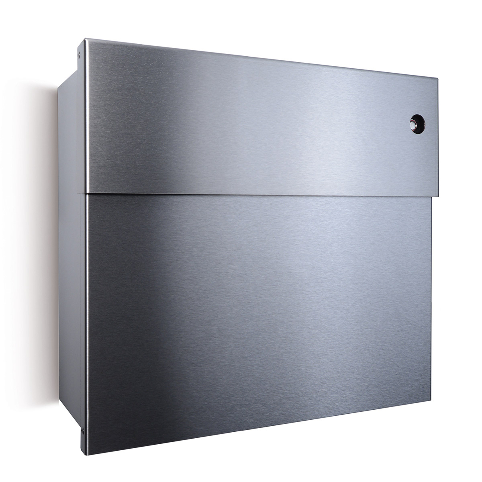 Letterman IV letterbox, red bell, stainless steel_1057142_1