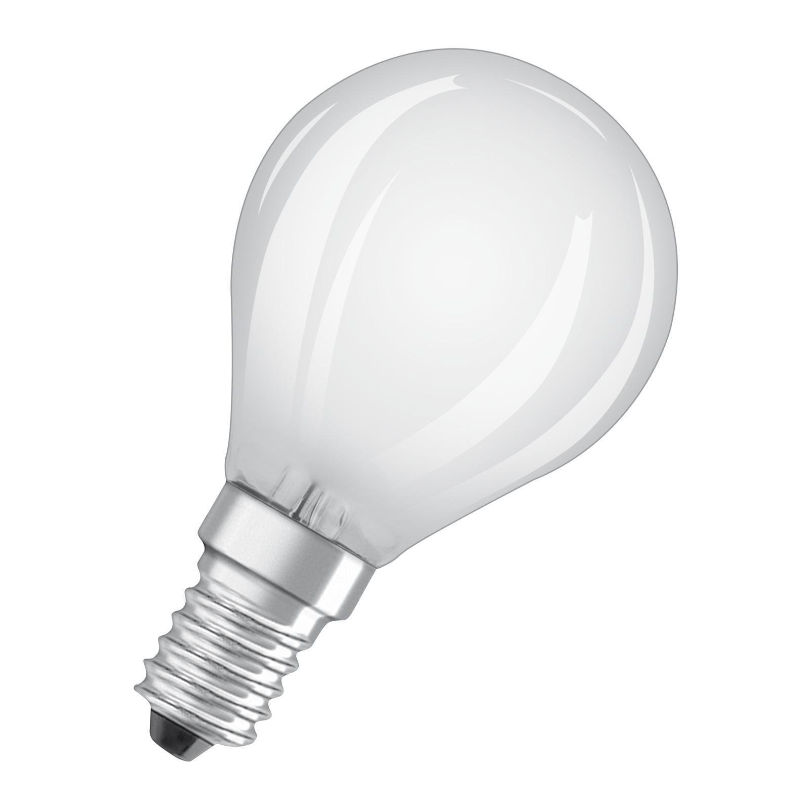 OSRAM LED-pære E14 4 W Classic P 2°700 K matt