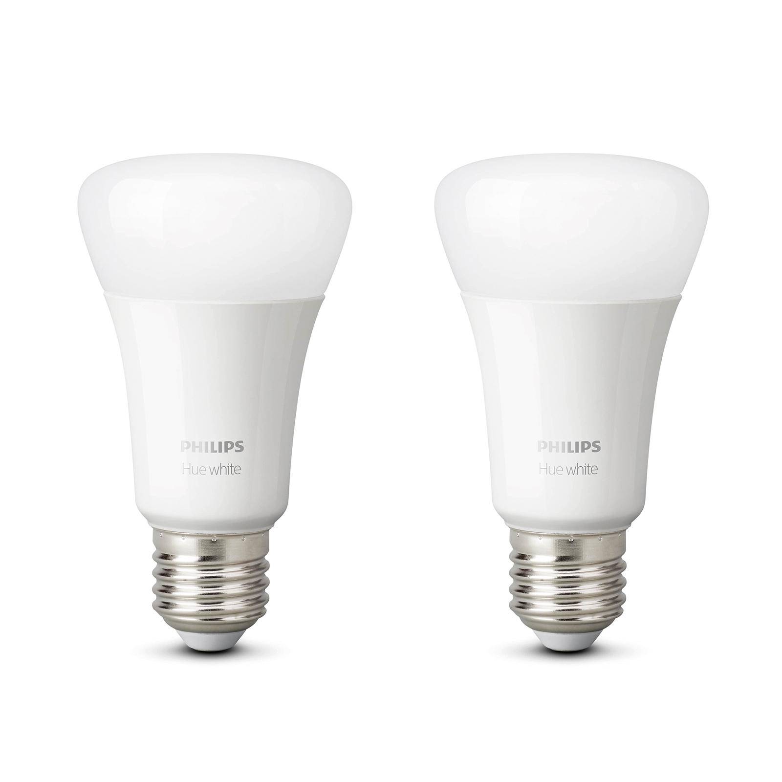 Philips Hue White 9 W E27 LED-Lampe, 2er-Set
