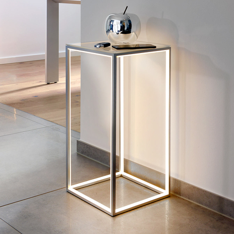Mesa auxiliar iluminada Delux, 60 cm de alto