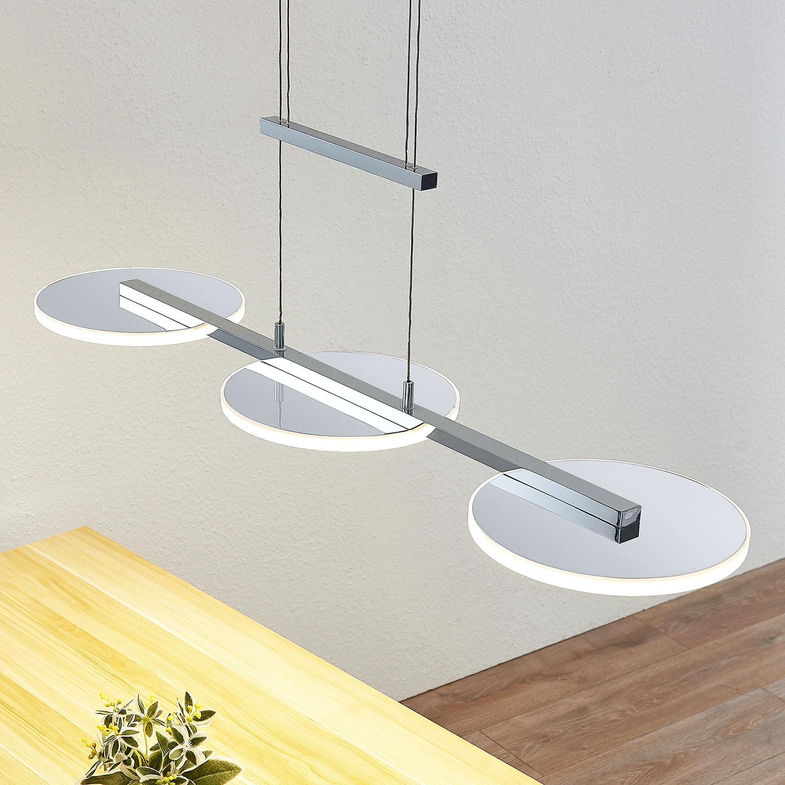 LED hanglamp Sherko, hoogte verstelbaar, 3-lamps