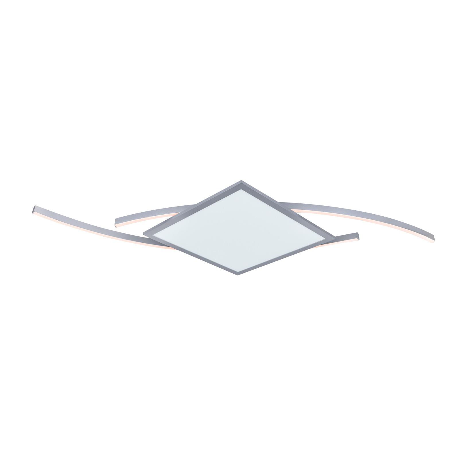 Lucande Tiaro lampa sufitowa LED kątowa 56,6cm CCT
