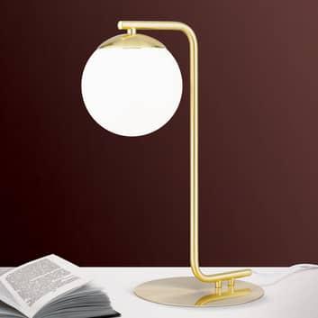 Lámpara de mesa Madis, pantalla esférica de vidrio