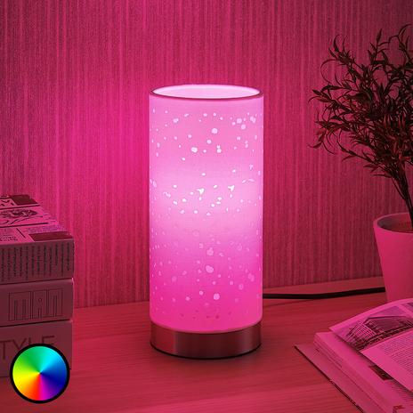 Lindby Smart lampa stołowa LED Alwine z punktami