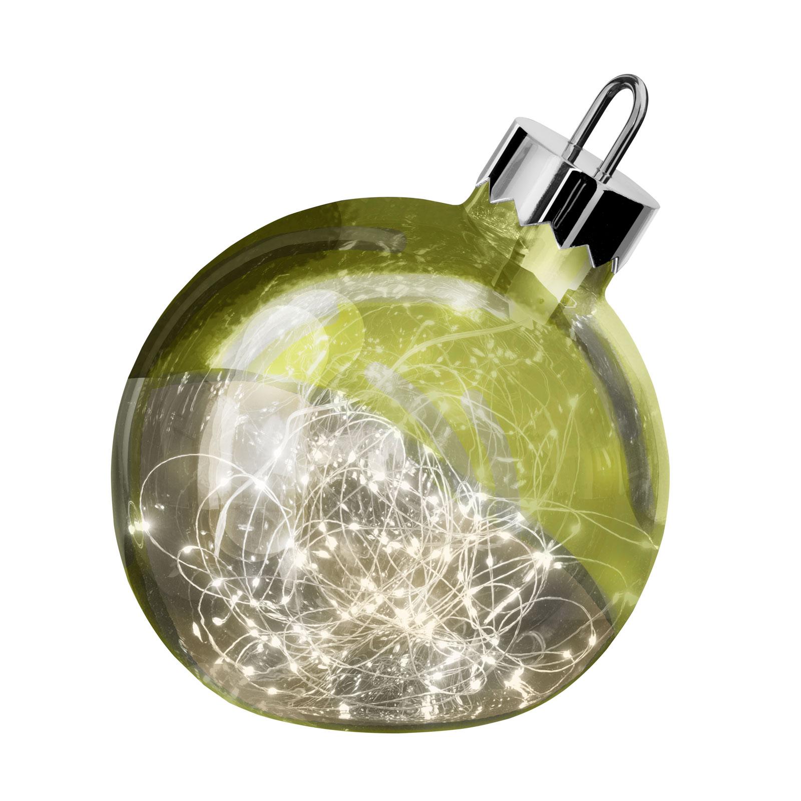 Dekoleuchte Ornament, grün, Ø 30 cm
