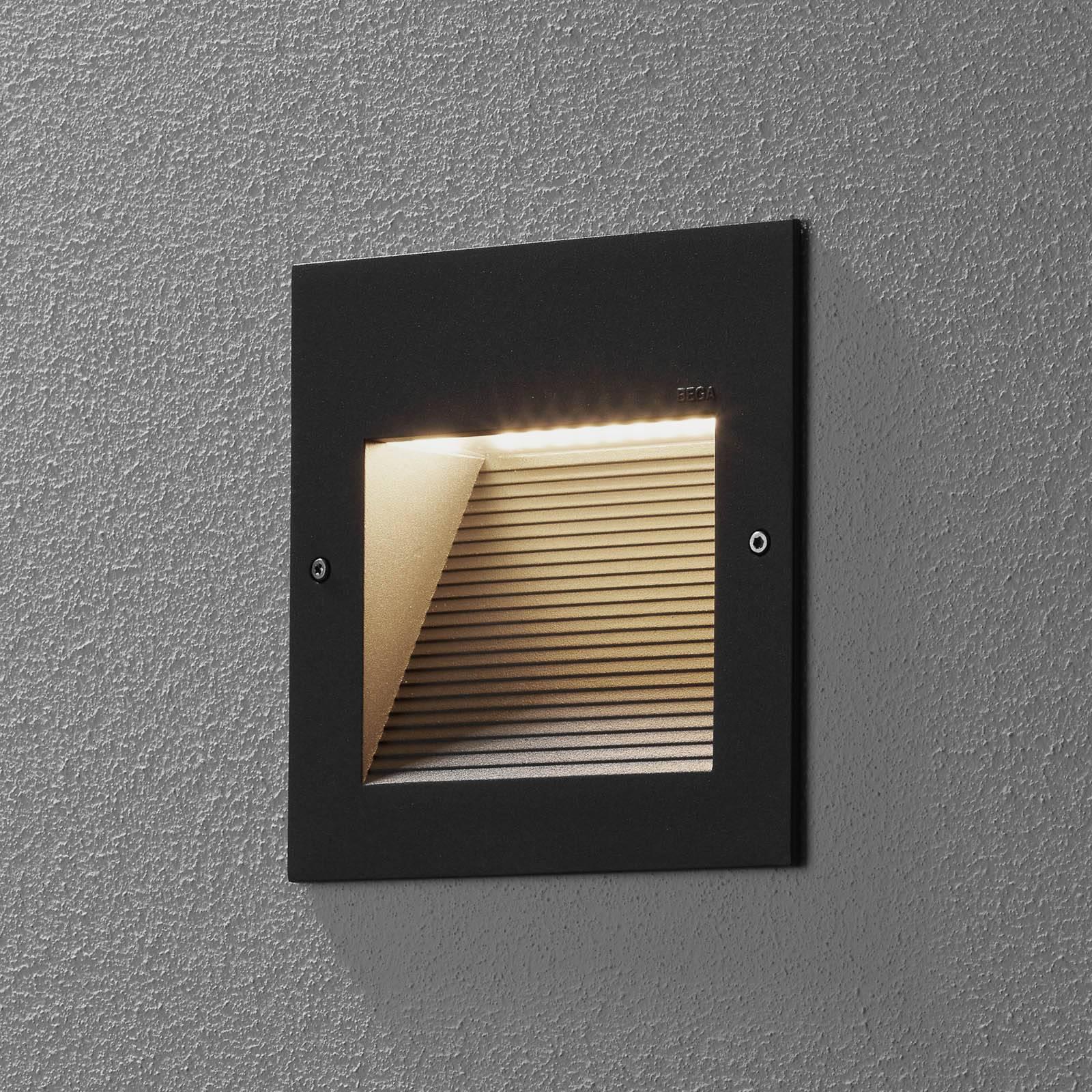 BEGA 24202 applique encastrée LED 3000K, graphite