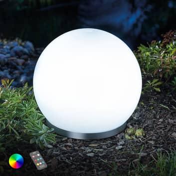 Kelluva aurinkok. RGB-LED-pallo Float 25 kaukos.