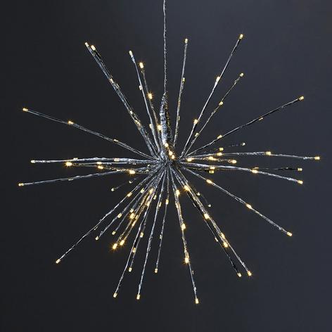 Lampa dekoracyjna LED Firework, srebrna