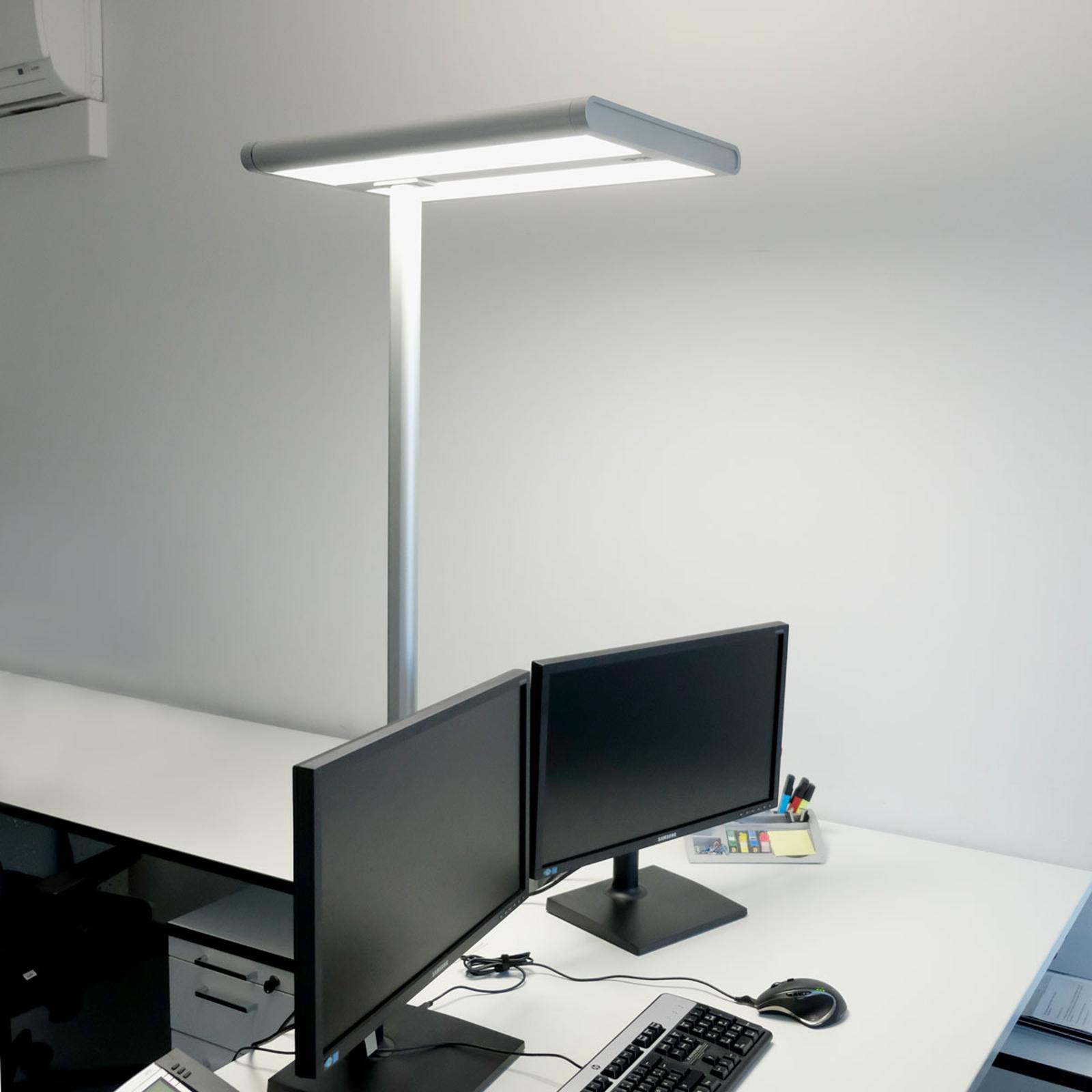 Quirin - biurowa lampa stojąca LED z czujnikiem