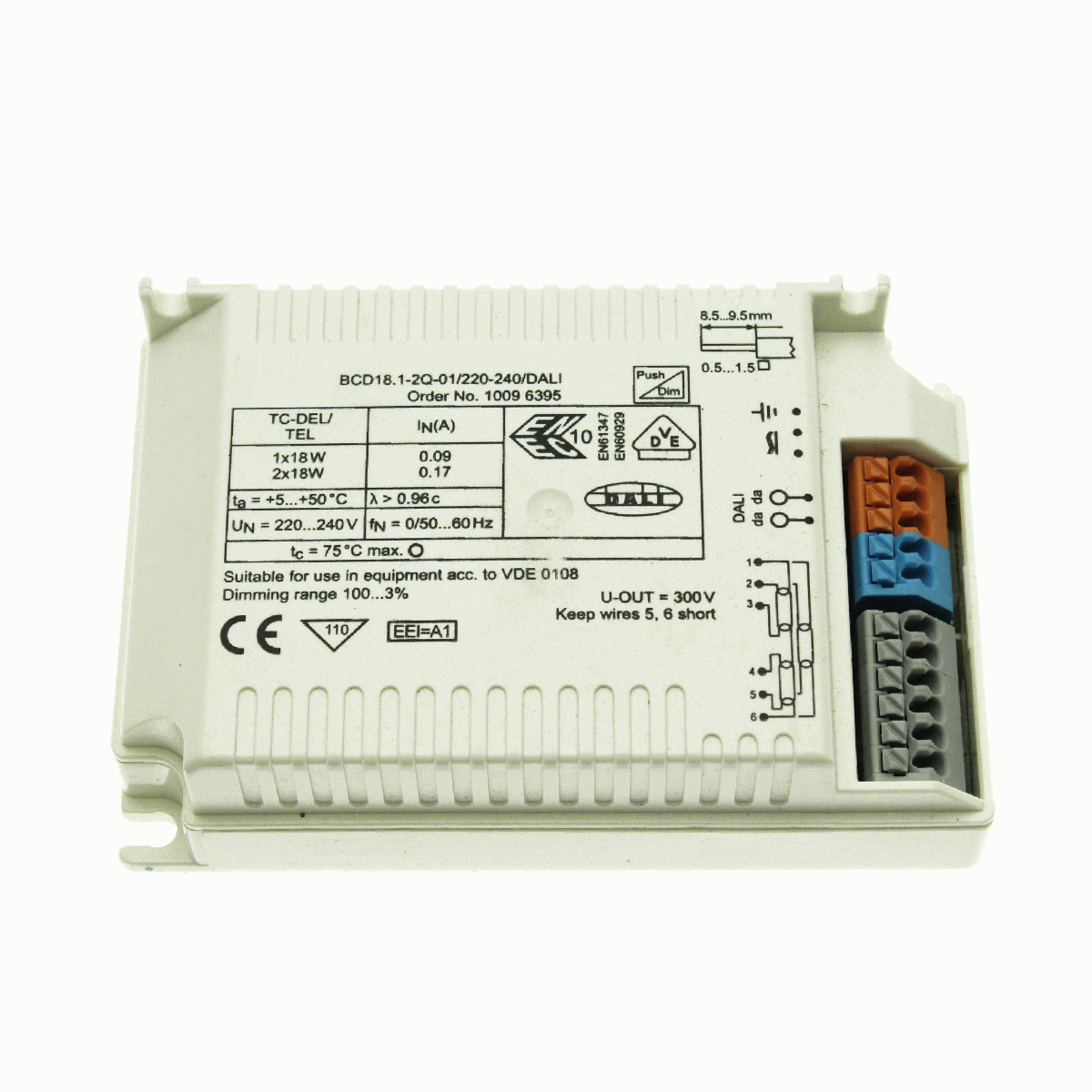 BE 18 W BCD18.1-2Q-01/220-240/dimmable DALI