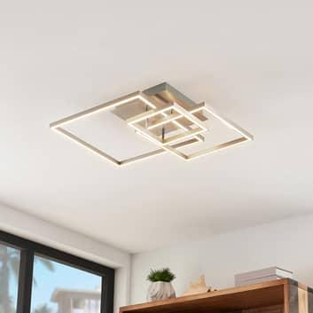 Lindby Katianna LED-Deckenleuchte aus 3 Quadraten