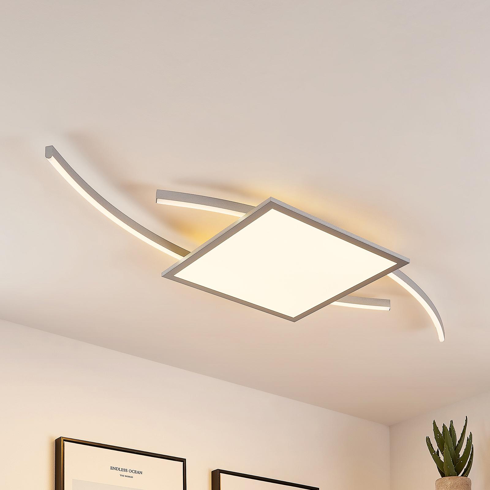 Lucande Tiaro lampa sufitowa LED kątowa 40cm CCT