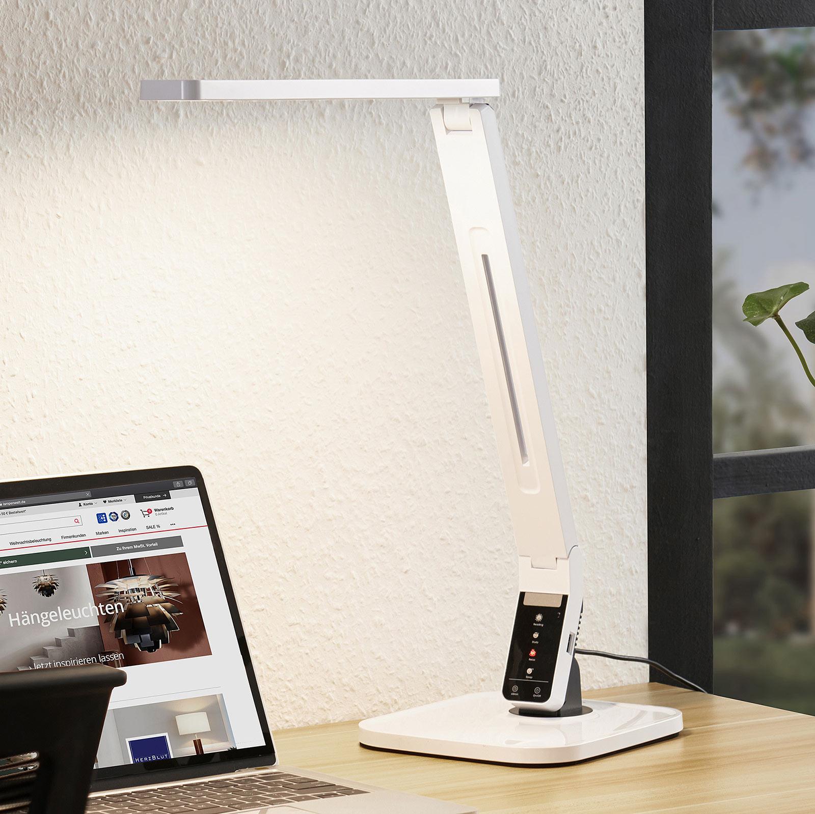 Arcchio Lianel lampe de bureau LED, blanche