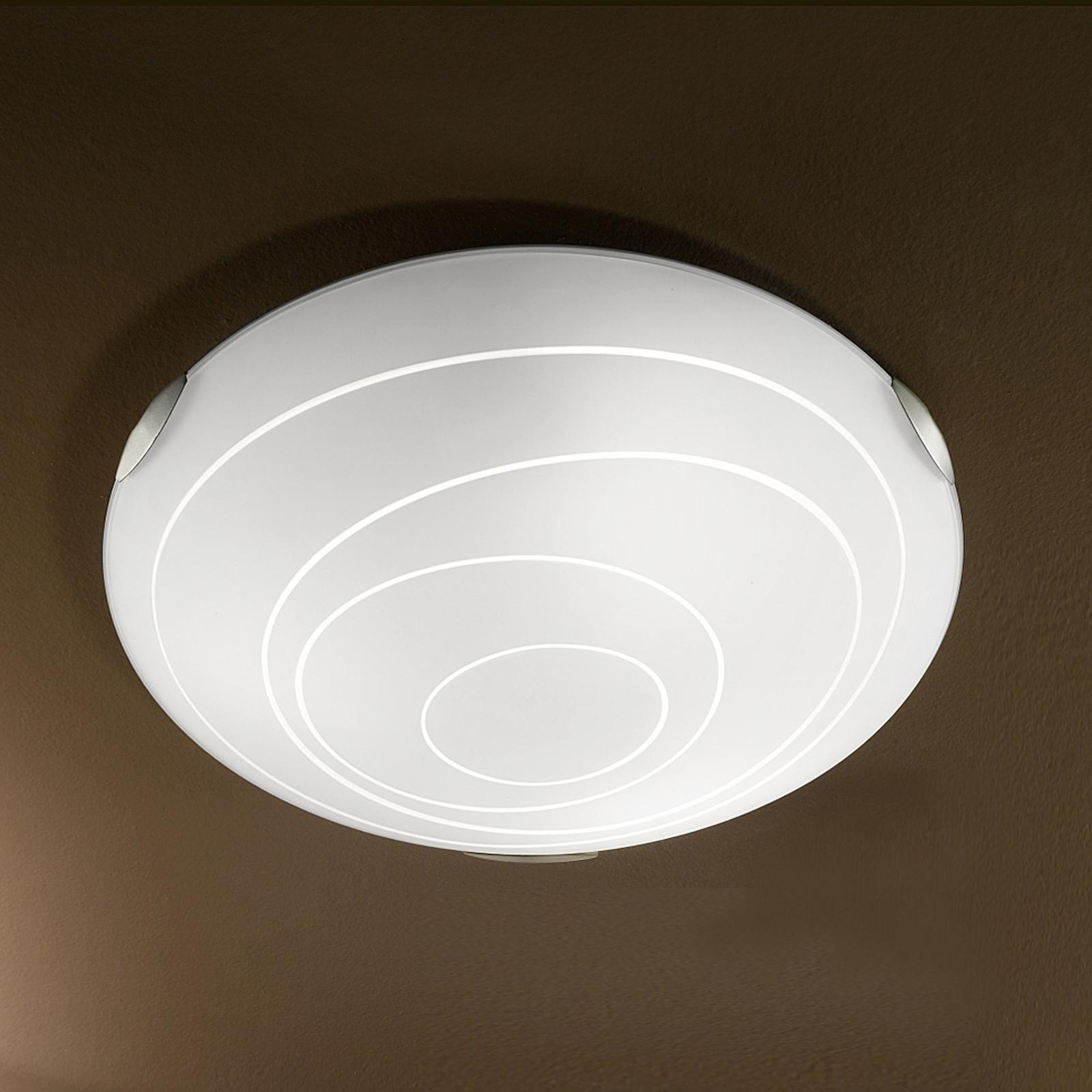 Okrągła lampa sufitowa KENT, biała