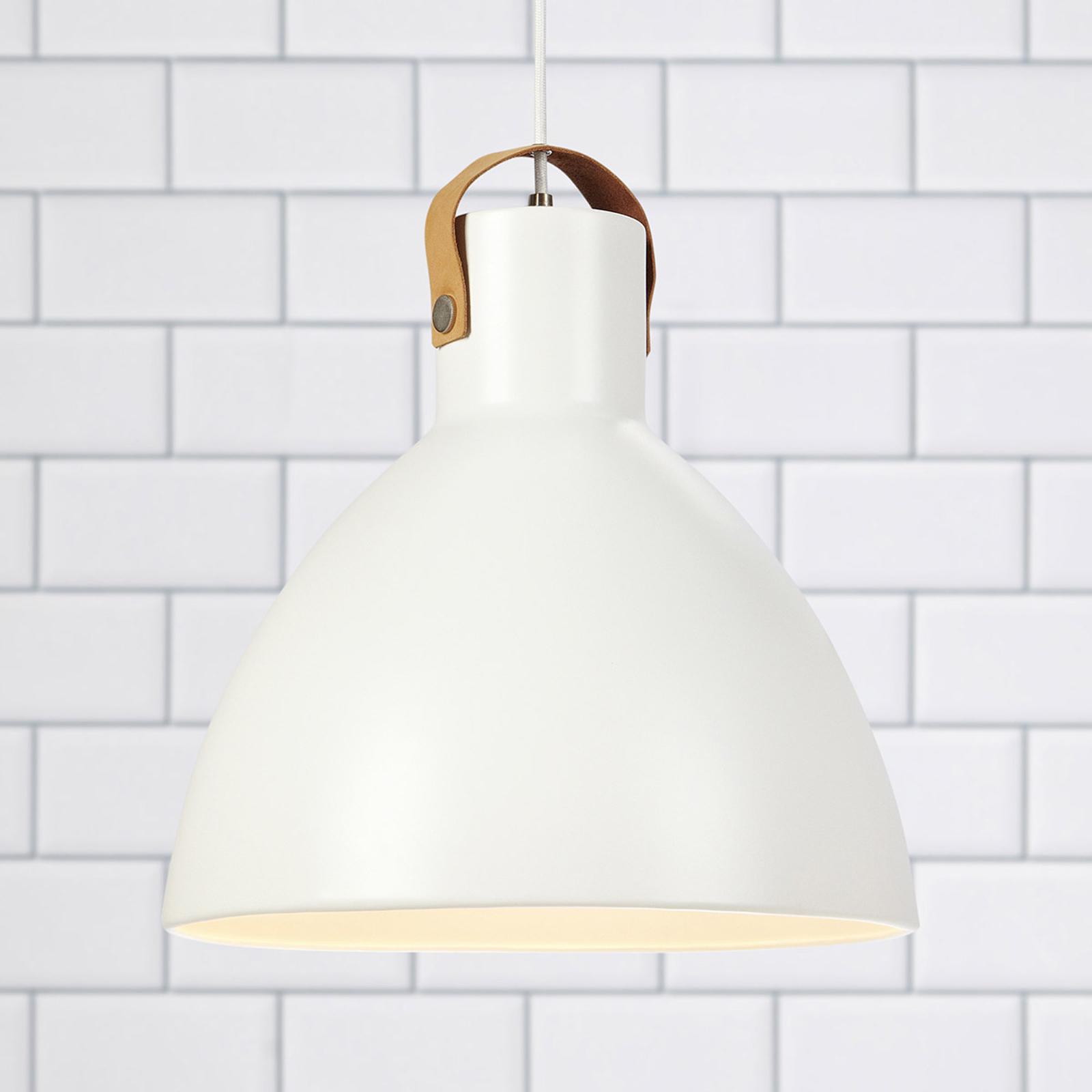 Lampa wisząca Eagle metalowy klosz Ø 35 cm biała