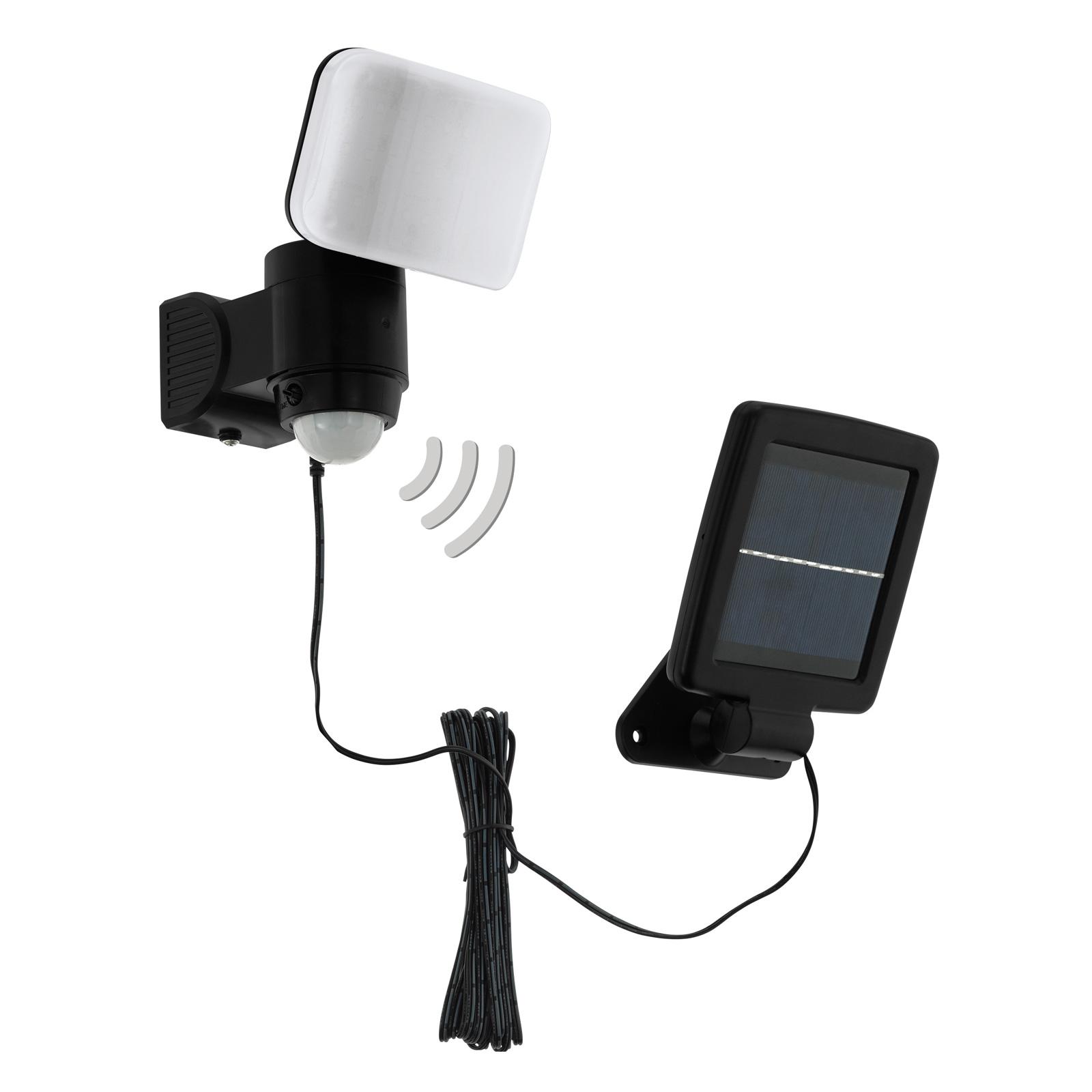 LED-Solarlampe Casabas mit Sensor, schwarz