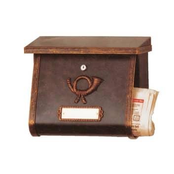 Konstfullt postlåda MULPI brun/guldpatinerad