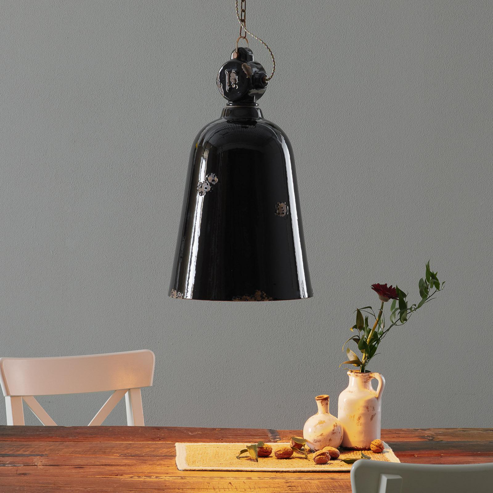 Suspension vintage C1745, conique, noire