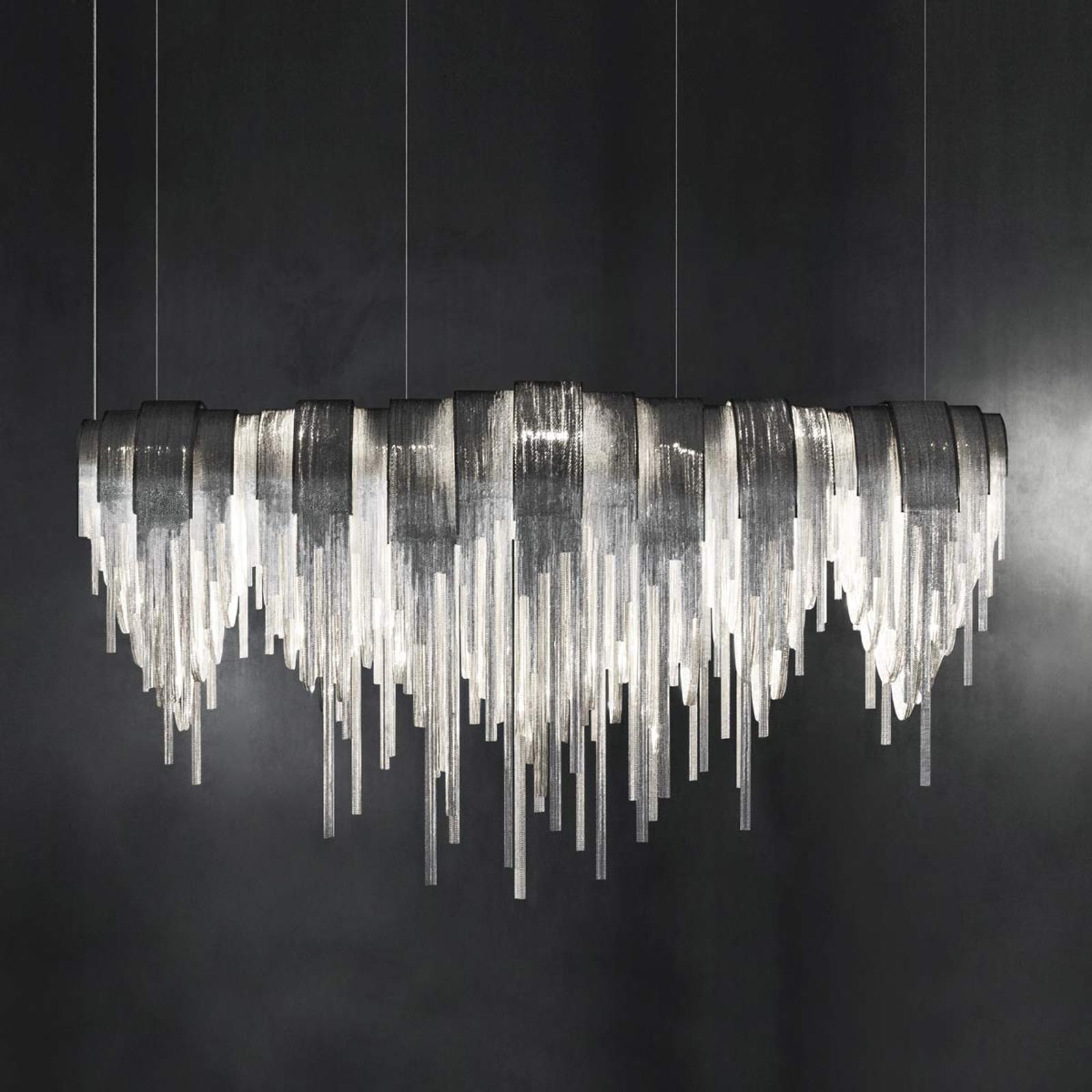 Volver - ekskluzywna lampa wisząca LED, podłużna